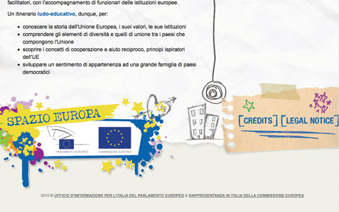footer layout spazio europa